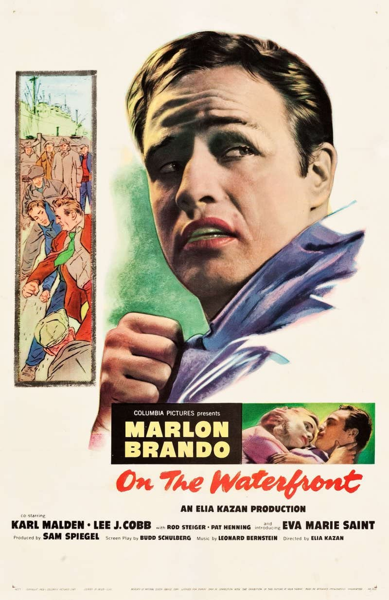 On The Waterfront Original Movie Poster. 1954. Linen Backed at Amazon's  Entertainment Collectibles Store
