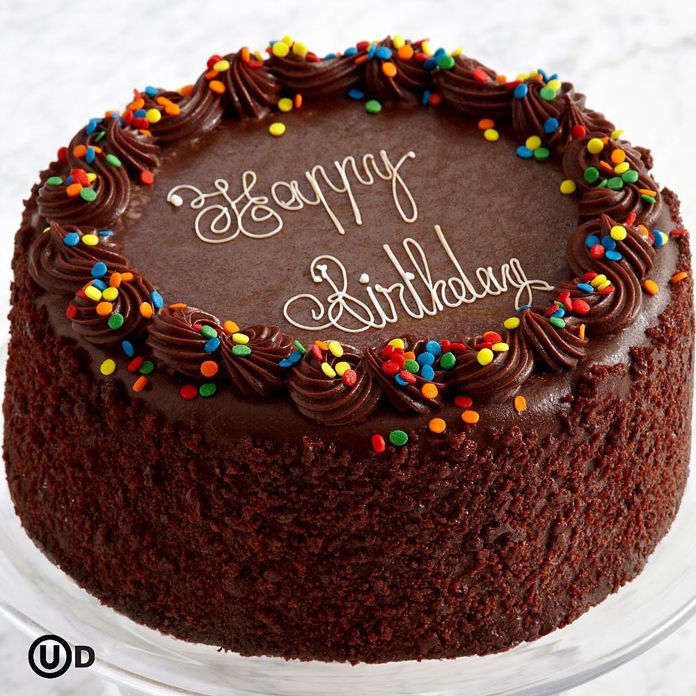Swell Sharis Berries Three Layer Chocolate Happy Birthday Cake 1 Personalised Birthday Cards Akebfashionlily Jamesorg