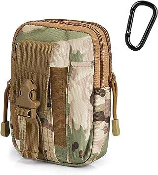 G4Free Tactical Molle Pouch Compact EDC Utility Gadget Waist Molle Bag Pack CCW Fanny Pack con Funda para Teléfono Celular para Correr Ciclismo Senderismo Camping Escalada: Amazon.es: Deportes y aire libre