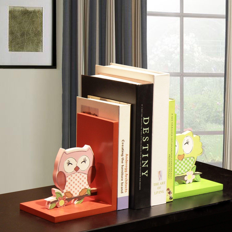 Deco De Ville Home Decorative Wood Children's Bookends Kid's Bookcase