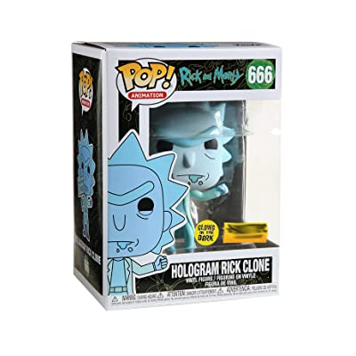 Funko Pop! Rick and Morty Hologram Rick Clone Glow in The Dark Exclusive 666: Toys & Games