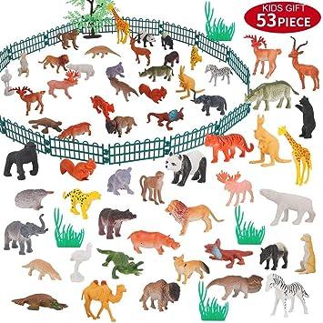 bdao gift Regalos de Juguetes para Niños de 3-8 Años, Mini Juguetes Suministros de Fiesta de Safari Favores para Niños Pequeños Niños Niños Niñas ...