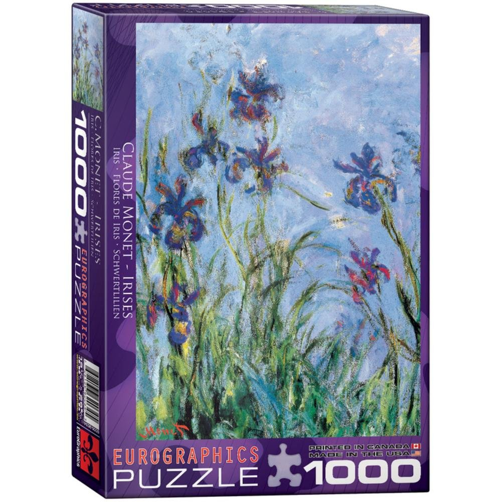 Monet - Irises, C. 1918-25 (detail) Jigsaw Puzzle 1000 Pieces 19.25