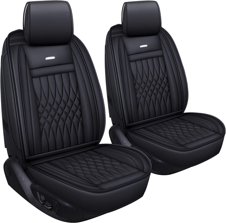 Heavy Duty Black Waterproof Car Seat Covers 2 x Fronts AUDI A3 Saloon