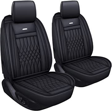 color negro resistentes e impermeables Juego de 2 fundas para los asientos delanteros
