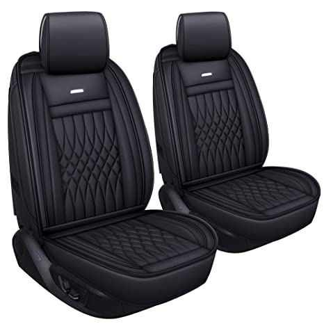 Terrific Luckyman Club 2 Pc Front Car Seat Covers With Waterproof Leather Universal For Sedan Suv Truck Fit For Most Chevy Hyundai Kia Honda Mazda Nissan Short Links Chair Design For Home Short Linksinfo