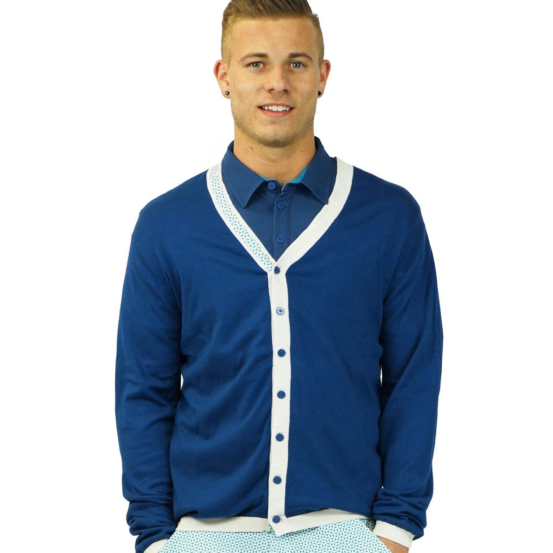 1960s Men's Sweaters Kikkor Golf Varsity Mens Sweater $80.00 AT vintagedancer.com