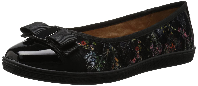 Soft Style Women's Faeth Flat B01N7VCCCG 9.5 W US|Dark Floral Velvet