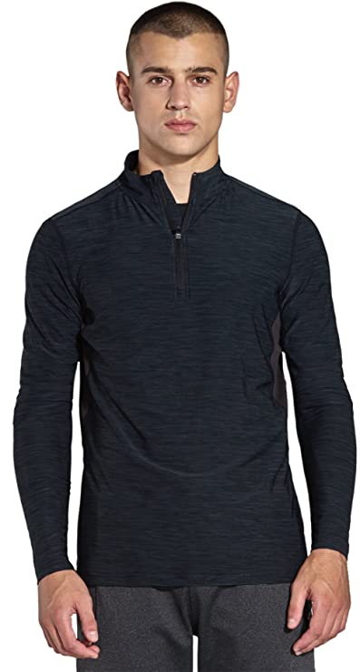 16bd6d17411 KomPrexx Mens 1/4 Zip Tops - QUICK DRY ACTIVEWEAR - Sports Training Workout  Running Long Sleeve T-Shirts MC03T: Amazon.co.uk: Sports & Outdoors