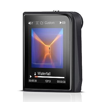 AGPTEK H50 HiFi Reproductor de MP3 Metalico con el Sonido, Pantalla TFT 2.0 Pulgadas (Soporta hasta 128 GB Tarjeta Micro SD), Color Gris