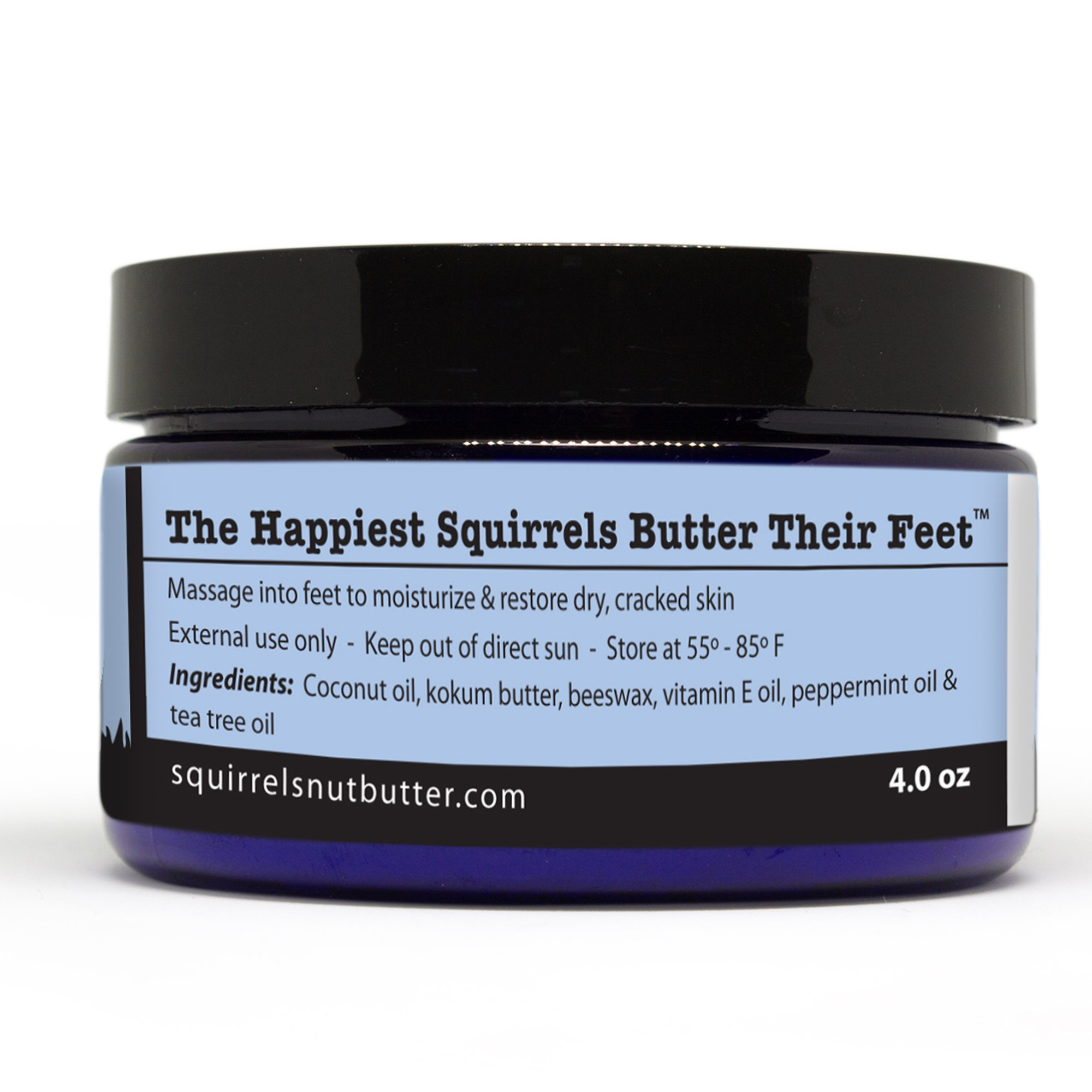Squirrel's Nut Butter Happy Toes All Natural Foot Salve, Tub, 4.0 oz, Peppermint & Tea Tree by Squirrel's Nut Butter (Image #1)