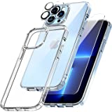TOCOL 3 in 1 Designed for iPhone 13 Pro 5G Case 6.1 inch - with 2Pcs Tempered Glass Screen Protector + 2Pcs Camera Lens Prote