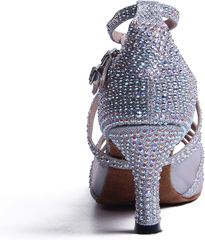 Syrads Chaussures de Danse Femmes Latine avec Strass Salsa Tango Valse Bachata Moderne Chaussures Danse De Salon 1057-1