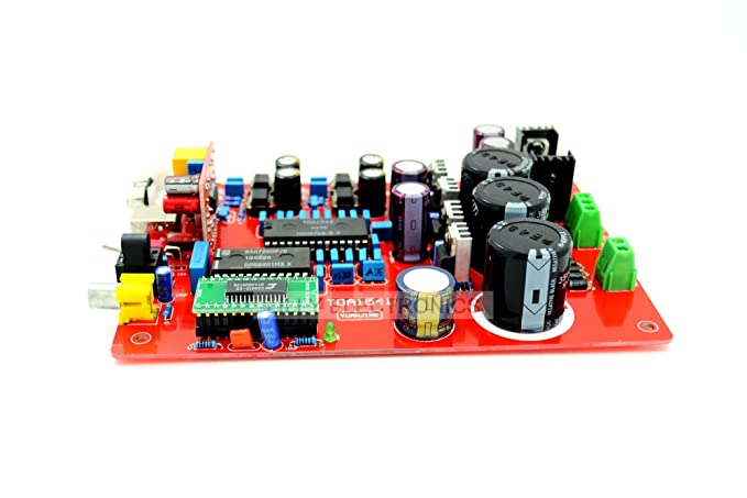 Tda1541 + SAA7220 + cs8412 + ne5534 fibra Coaxial USB PCM 2704 DAC tablero AC15: Amazon.es: Electrónica