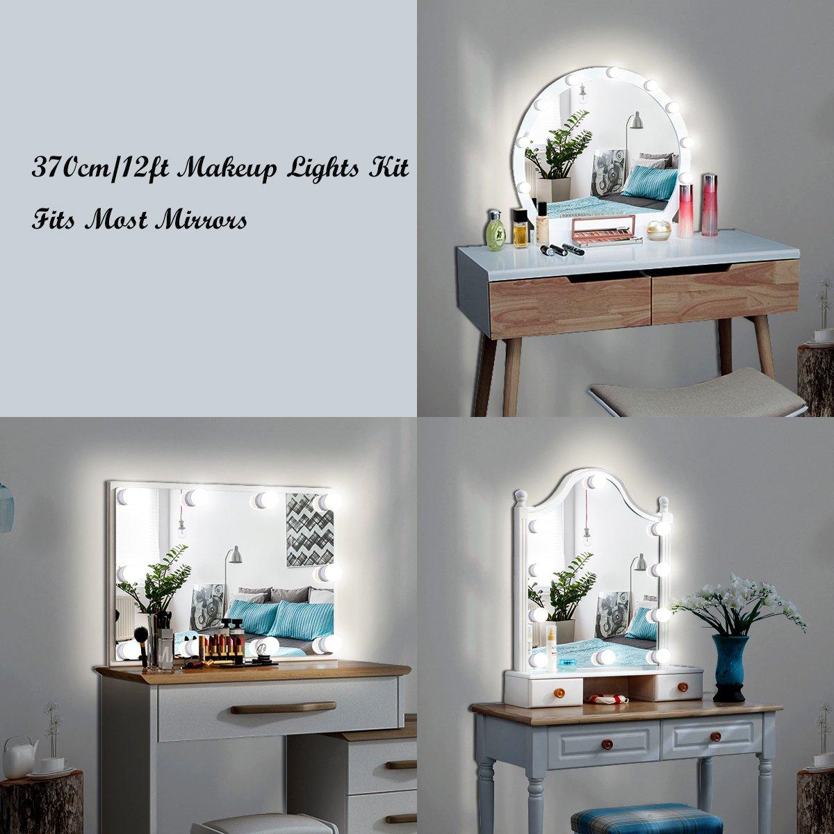 Memoru LED Spiegelleuchte 10 Dimmbare LED Kugellampen Hollywood Stil ...