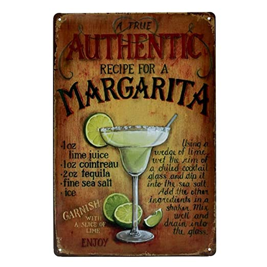 kentop Retro Cartel de chapa Margarita placa de pared (placa ...
