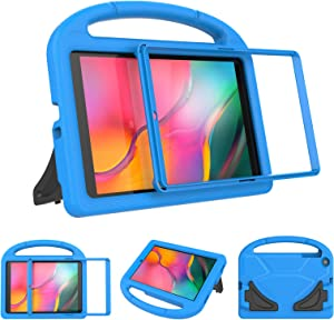 LTROP Case for Samsung Galaxy Tab A 10.1 2019 SM-T510/T515 - Galaxy Tab A 10.1 2019 Kids Case Built-in Screen Protector Shockproof Light Weight Kids Case for Samsung Galaxy Tab A 10.1 2019, Blue