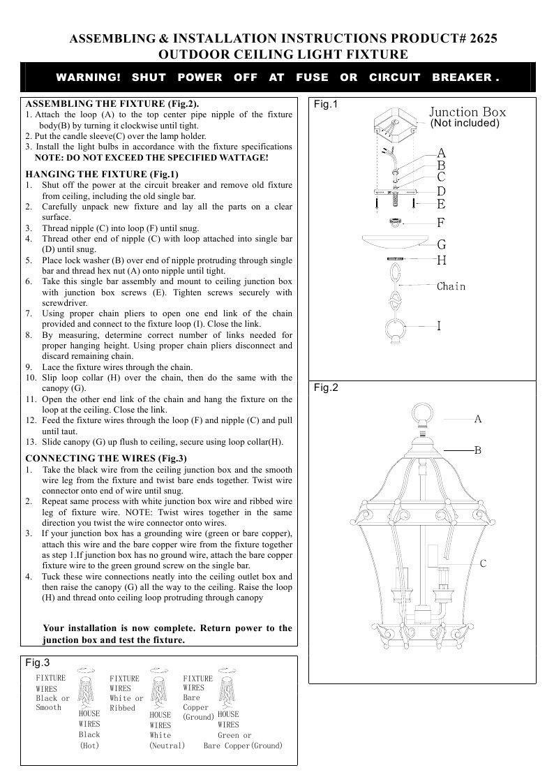 Livex Lighting 2625-07 Outdoor Hanging Lanterning Lantern