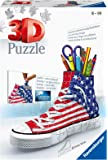 Ravensburger Sneaker American Style 108 Piece 3D Jigsaw Puzzle for Kids and Adults - Easy Click Technology Means Pieces…