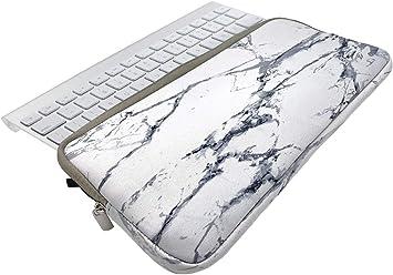 KOSTOO Funda de neopreno con cremallera para teclado Bluetooth inalámbrico Apple MC184LL/B MC184CH y MLA22LL/A y Logitech Easy-Switch ...