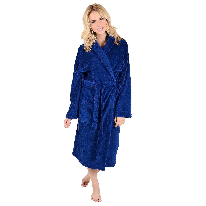Ladies Coral Fleece Super Soft Thick Luxurious Bath Robe Dressing ...