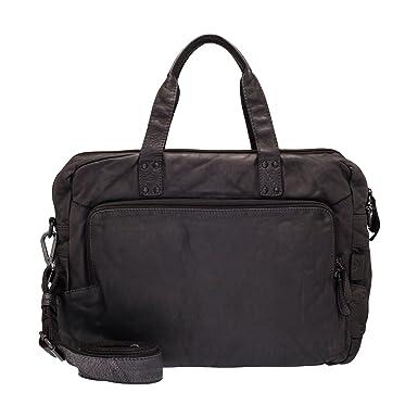 4b89ffe87b4a8 VOi Aktentasche 21106 Leder Damen Businesstasche Schultertasche elegante  Handtasche aus Soft Leder in Schwarz