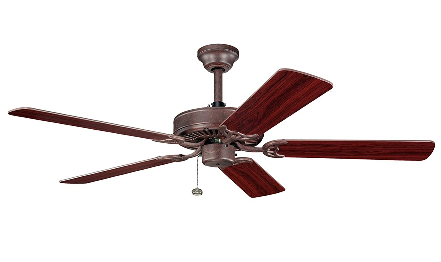 Kichler lighting 339010tz sterling manor 52in energy star ceiling kichler lighting 339010tz sterling manor 52in energy star ceiling fan tannery bronze finish with reversible teakcherry blades rustic ceiling fan aloadofball Image collections