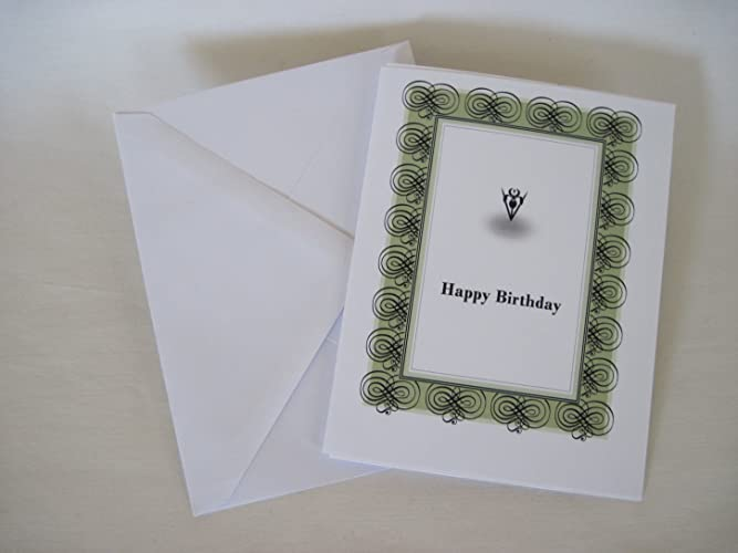 Handmade Creative Blank Happy Birthday Greeting Card Gift On White Stock Art Craft Black