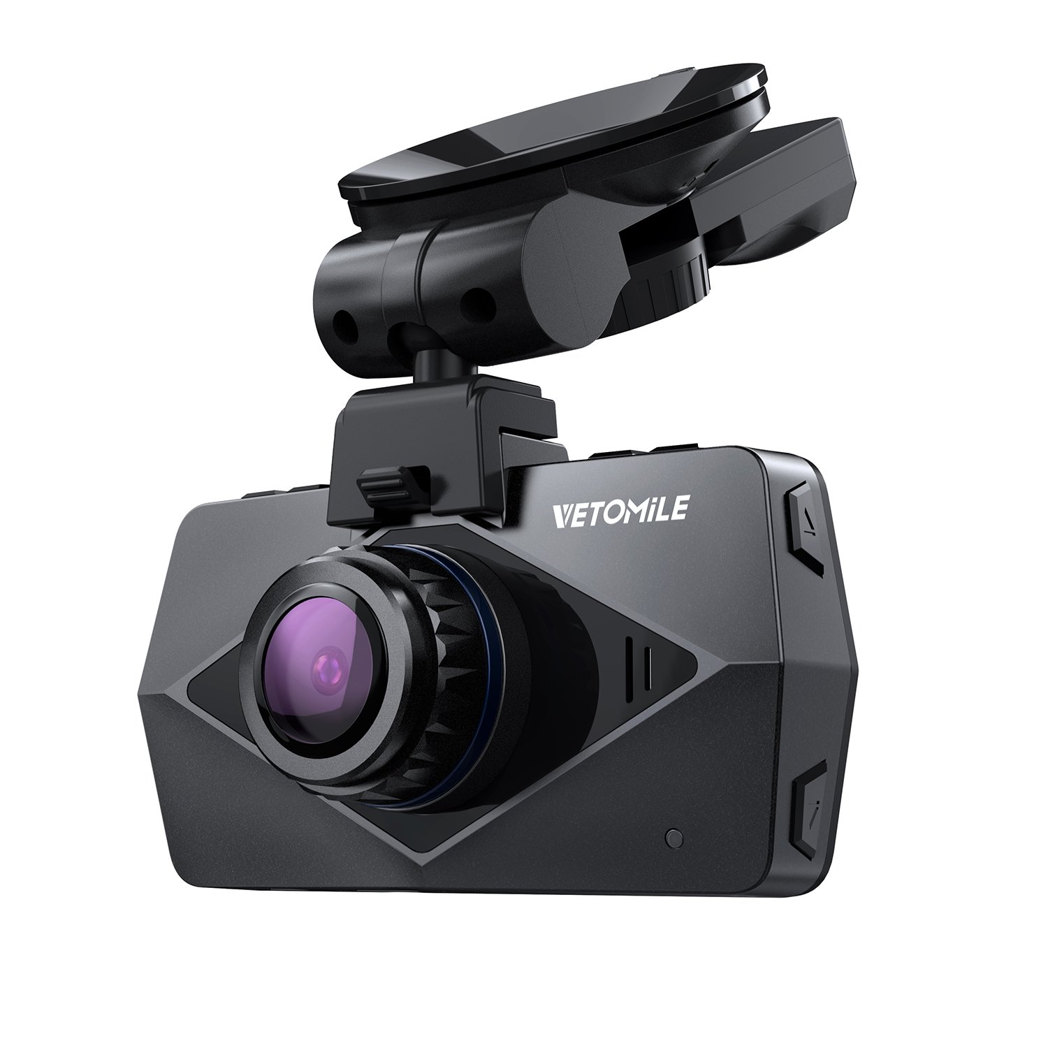 VETOMILE V2 Dash Cam 2.5K HD 1440P 30fps, 1080P 60fps, Car Dashboard Camera Video Recorder 170° Wide Angle with Built-in WIFI, GPS, Parking Mode, Super Night Vision, Loop Recording