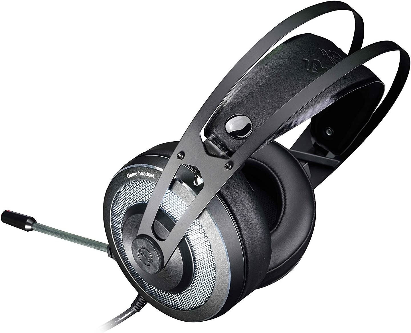 HUO JI X-200 Stereo PC Gaming Headset Over-Ear Headphones Volume Control with Breathing LED Lights