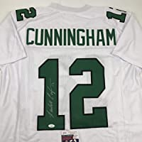 Autographed/Signed Randall Cunningham Philadelphia White Football Jersey JSA COA photo