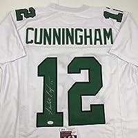 $124 » Autographed/Signed Randall Cunningham Philadelphia White Football Jersey JSA COA