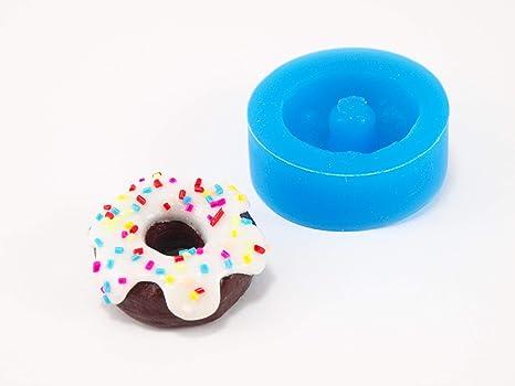 Molde silicona Gateau Gros Donuts para Fimo, plastilina, resine, porcelana fría