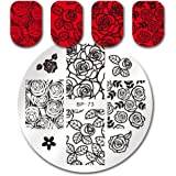 Born Pretty Rose Nail Art Stamping Plate Flower Template Image Plate BP73