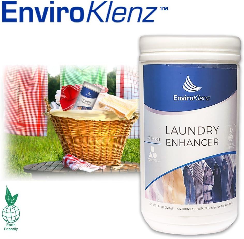 EnviroKlenz Laundry Odor Eliminator Detergent Booster, Best Laundry Additive 30 Loads Powder