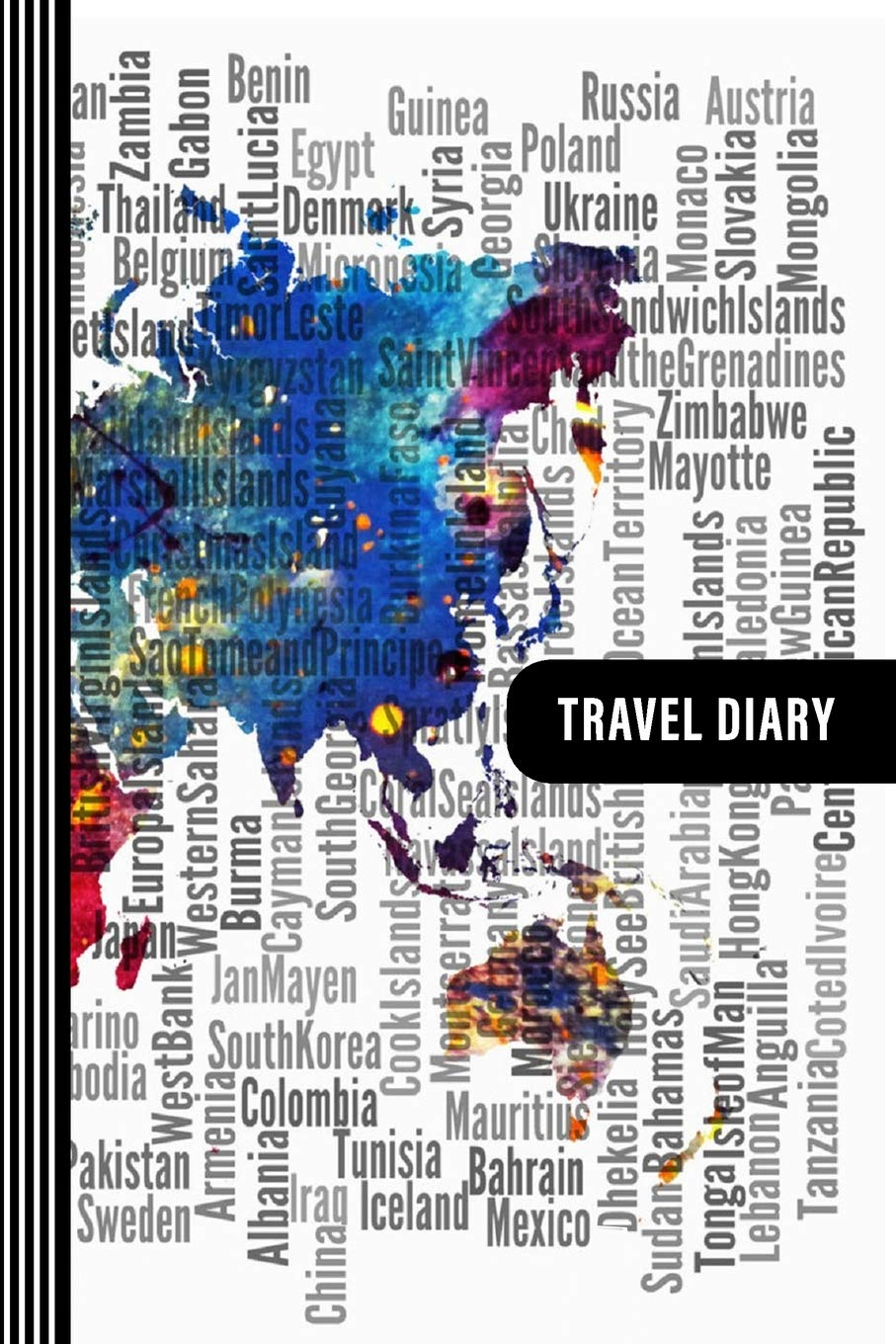 Travel Diary: Guided Journal Log Book To Write Fill In - 52 ...