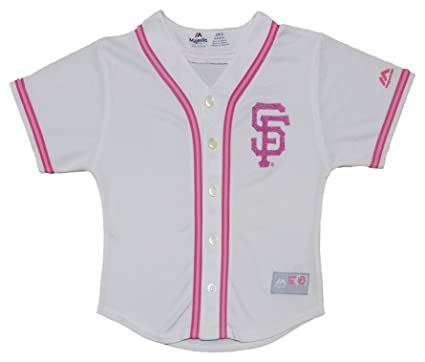 quality design 82937 88d9d Amazon.com: San Francisco Giants Girls Kids White Pink Cool ...