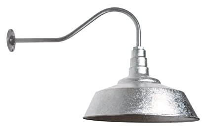 Large Gooseneck Barn Light | The Redondo Standard Warehouse Steel Dome on a  Gooseneck | Modern Farmhouse Barn Lighting Made in America (23
