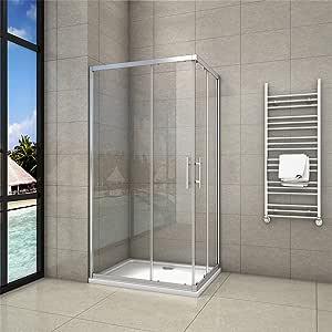 Aica - Puertas correderas de ducha (cristal, 1900 mm): Amazon.es ...