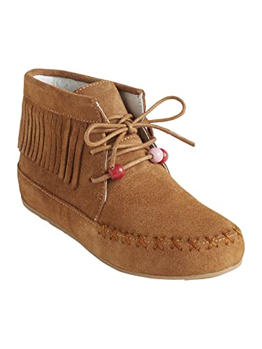 e87d9b057ebdb Vertbaudet Bottines Cuir Fille Broderies et Franges  Amazon.fr ...