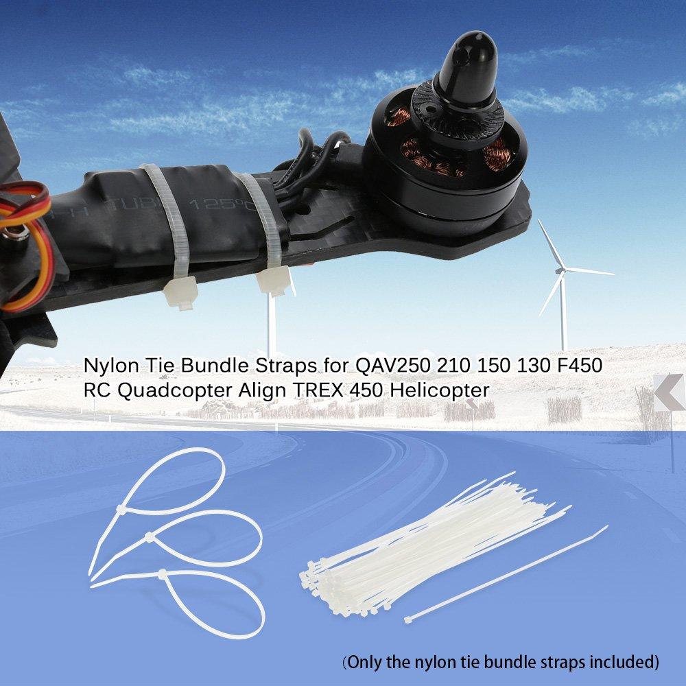 GoolRC 200Pcs 2.5200mm ESC Servo Motor Cable Nylon Tie Bundle Straps for QAV250 210 150 130 F450 RC Racing FPV Quadcopter Align TREX 450 Helicopter