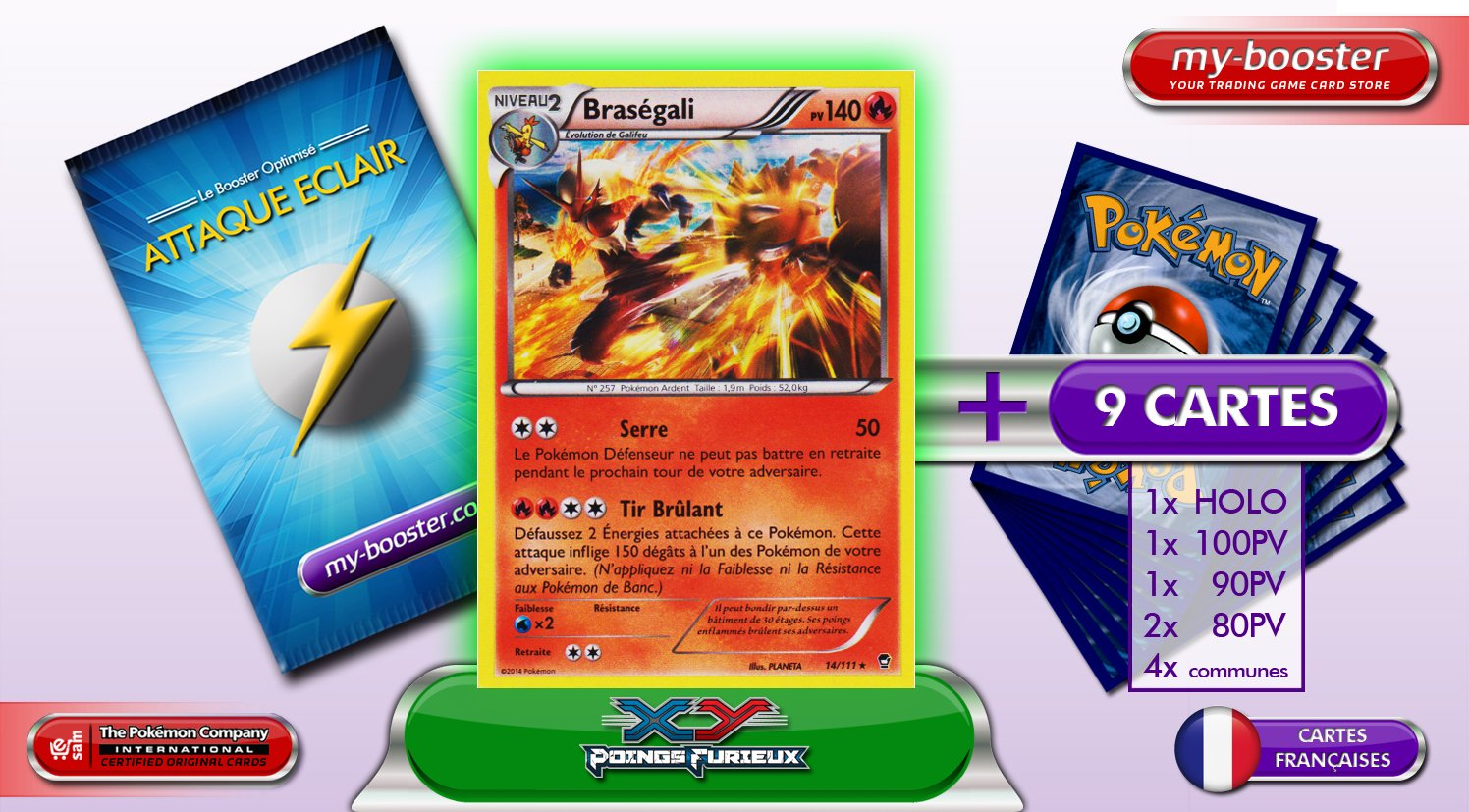 Furious Fists 14//111 Blaziken Holo Pokemon Card