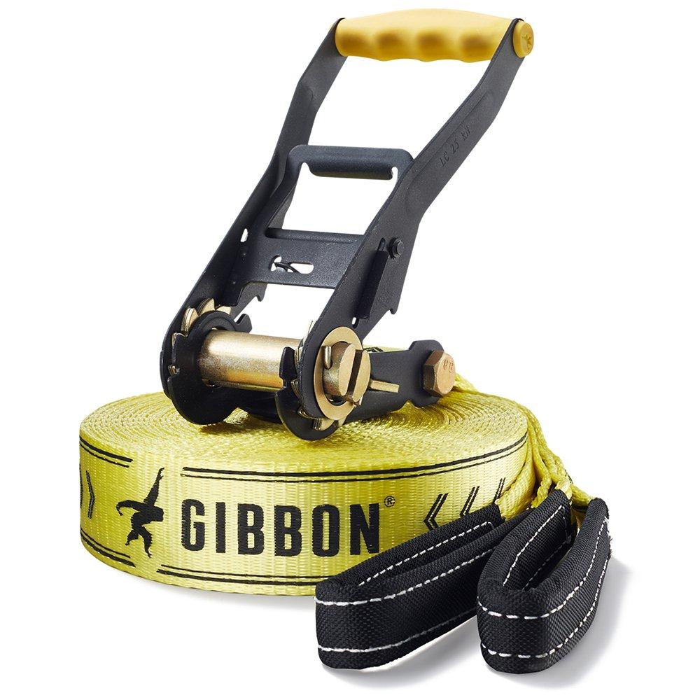 Gibbon Slacklines Classic Line - Set de accesorios para slackline, color amarillo/negro, talla única 13840