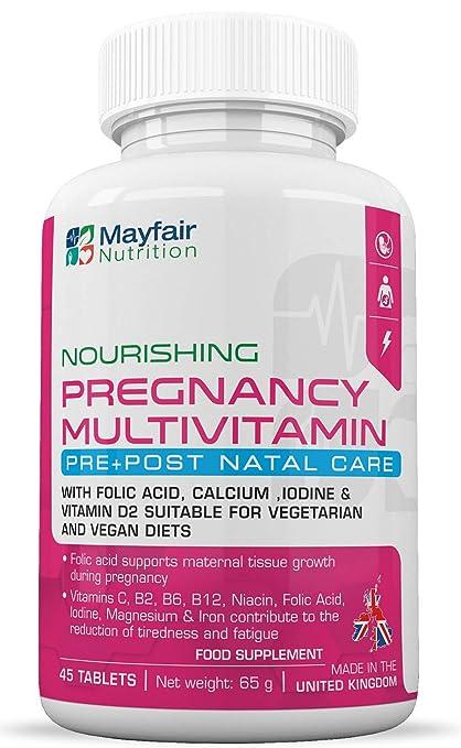 Compuesto multivitamínico para el embarazo   Fórmula de calidad superior para futuras mamás   Completo con