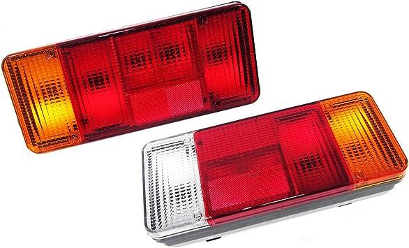 2x 12v 24v Lkw Auto Pkw Kfz Fahrgestell Anhänger Rückleuchten Heckleuchte Rücklicht Auto