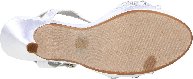 Dyeables Women's Pippa Platform US White Sandal B005WQNWPM 7 B(M) US White Platform Satin 411464