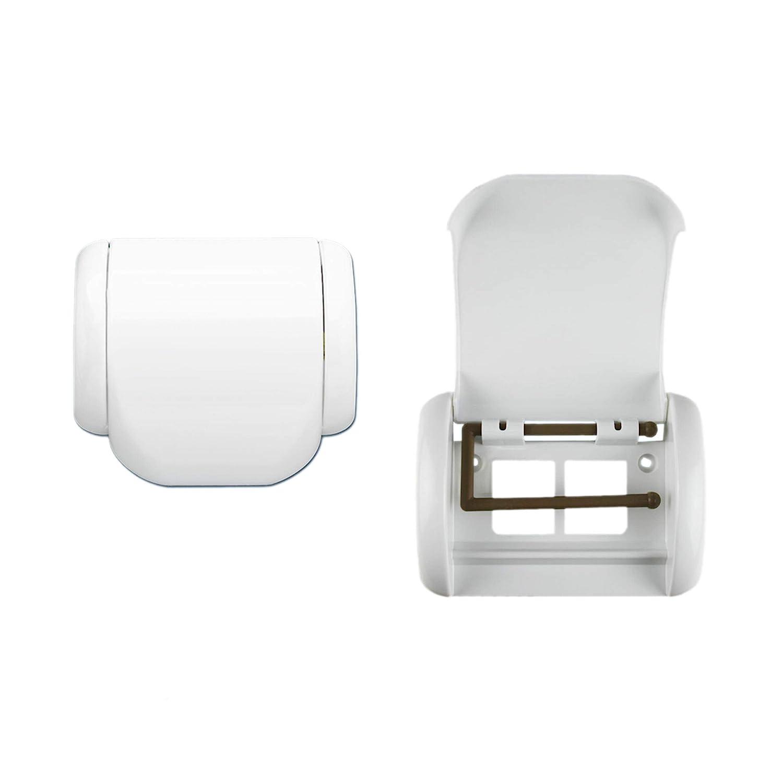 weiß Bisk Athena Toilettenpapierhalter ohne Abdeckung Kunststoff 14,5 x 8...
