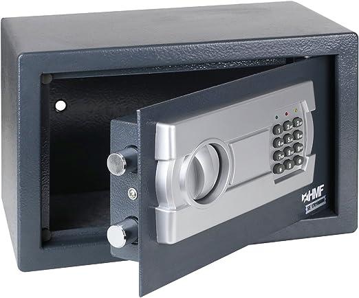 HMF 4612112 Caja fuerte cerradura electrónica 31 x 20 x 20 cm, antracita: Amazon.es: Oficina y papelería