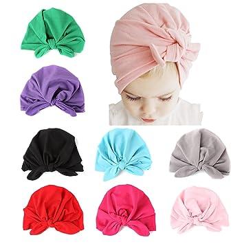 ALoveSoul 8 Pcs Newborn Baby Rabbit Ear Infant Knot Headband Toddler Soft  Cute Turban Hospital Indian Hat  Amazon.in  Baby 4af5b7d9cefe