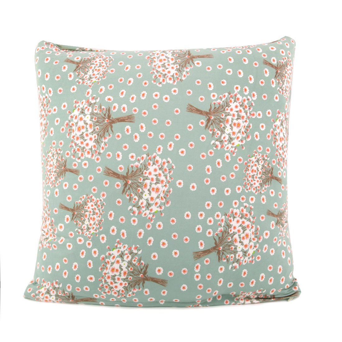 uxcell Square Throw Pillow Case Cushion Cover Home Sofa Decorative Elegant Flower Pattern 18 x 18 COMIN18JU048297